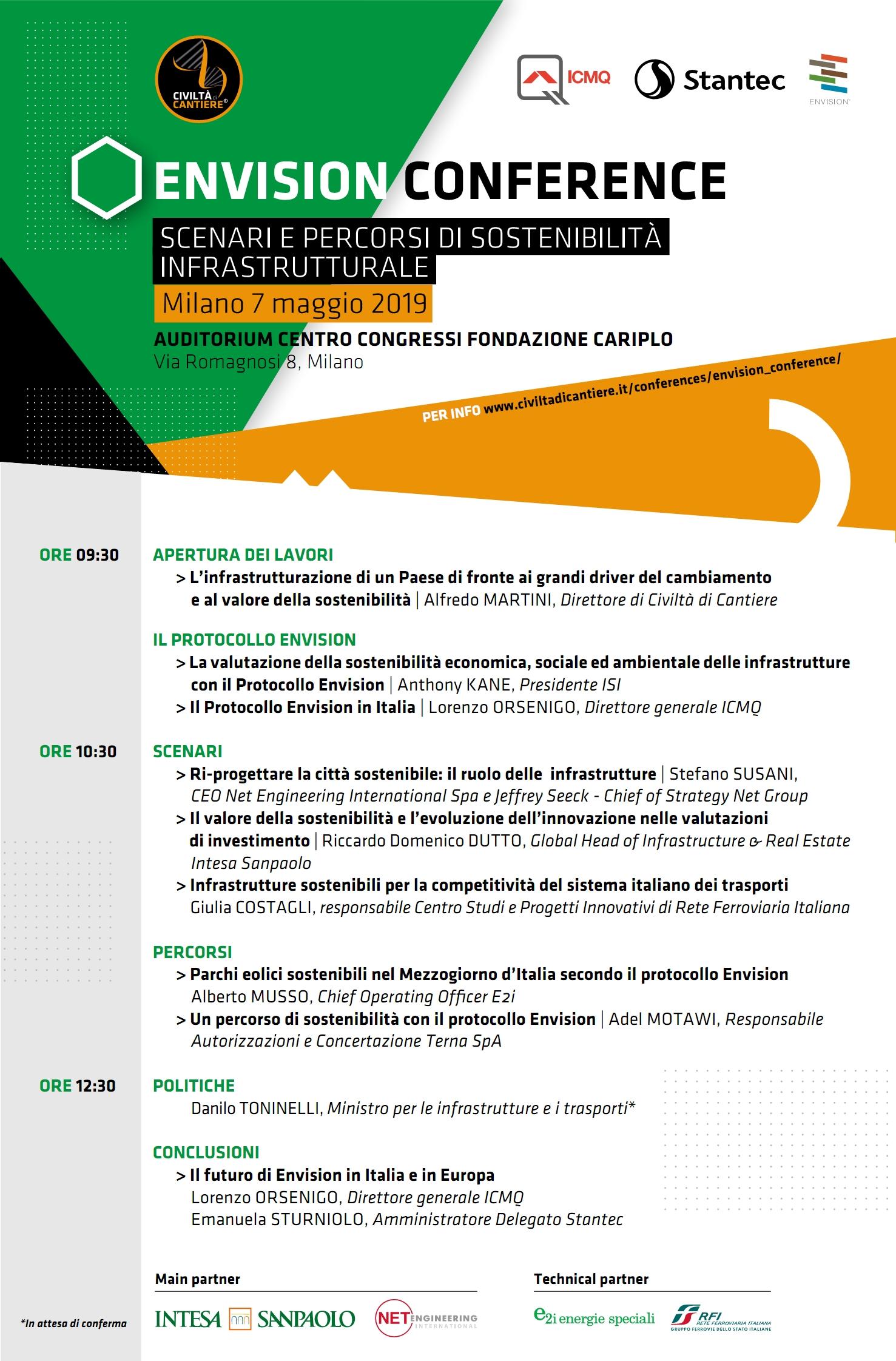 Envision Conference – Scenari E Percorsi Di Sostenibilità Infrastrutturale