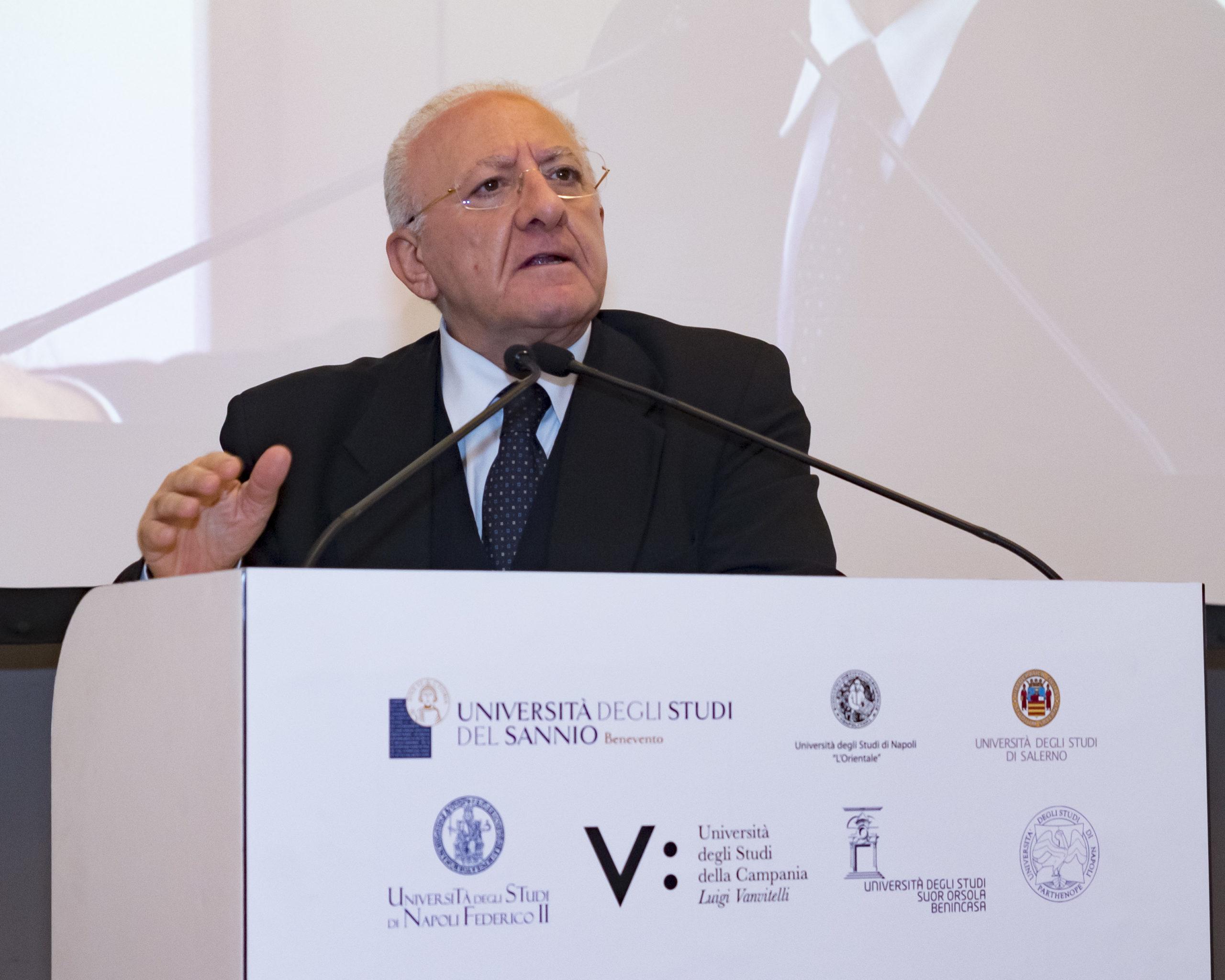 Intervento Del Presidente Della Regione Campania, Vincenzo De Luca